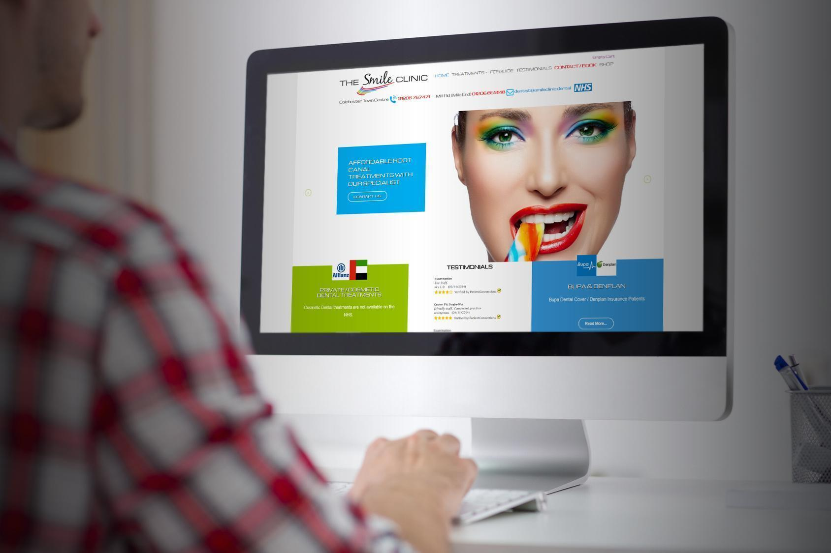 Smile Clinic Case Study Image Identity Web design